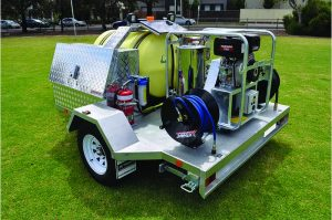 Jetwave Explorer Diesel or Petrol Driven Hot Water Trailered Pressure Cleaner